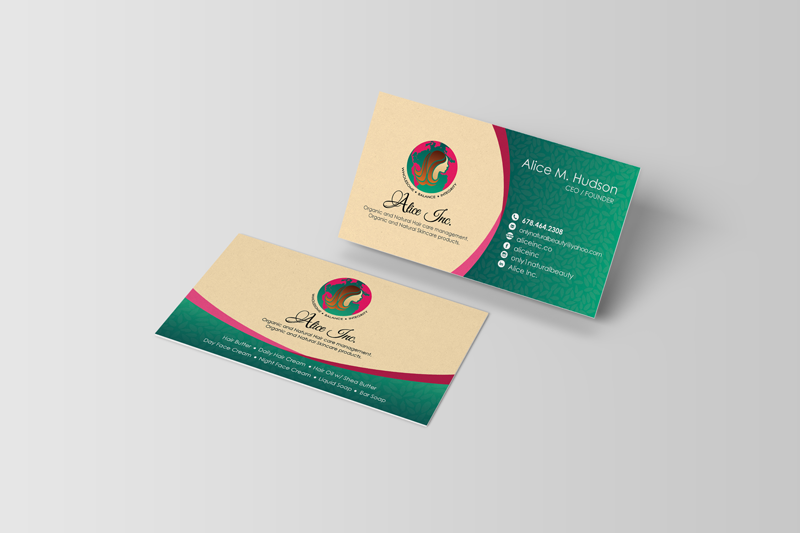 alice inc business cards